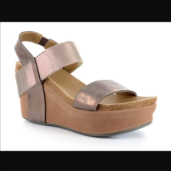 02ebbbdf8a871 Corkys Shoes - Corkys Wedge Brushed Bronze